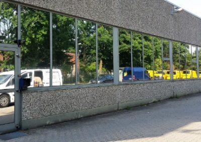 Industriehalle mit Sonnenschutzfolie
